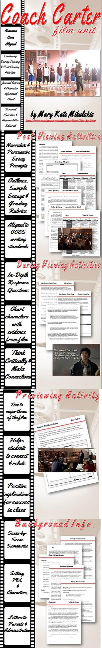 17 best ideas about coach carter inspirational coach carter film unit narrative essay argumentative editorial more