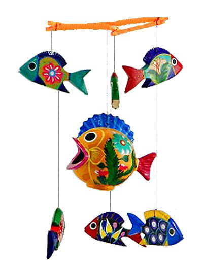 51 best images about painted wooden fish on pinterest for Mobili wooden art