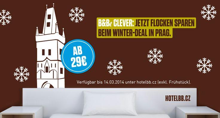 Schnäppchenjäger aufgepasst: Das B&B #Hotel Prague-City hält derzeit ein besonderes Angebot bereit! Bis zum 14. März 2014 können Gäste unseres Hotels in #Prag für 29 € im Einzel- oder Doppelzimmer übernachten. Lasst Euch dieses #Special nicht entgehen!