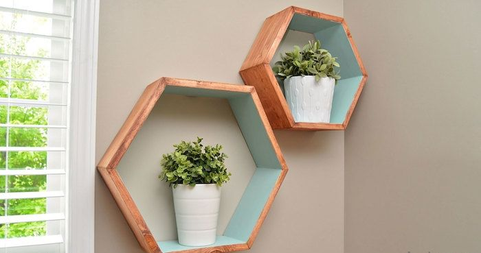 Les 25 meilleures id es de la cat gorie etagere cube sur for Decoration murale hexagonale