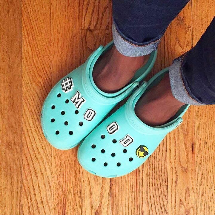 The Crocs Jibbitz say it all  Happy Friday