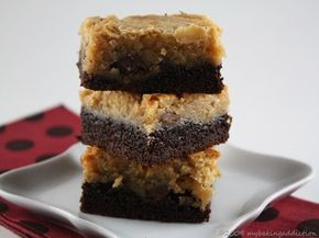Ooey Gooey Chocolate Peanut Butter Cake  [called chess squares where I come from...] by Paula Deen