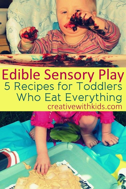 Sensory Activities and Recipes for Kids.  Fun and non-confrontational way to play with new food textures and sensations. Visit pinterest.com/arktherapeutic for more #sensoryplay and #feedingtherapy ideas