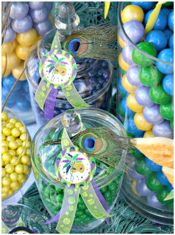 112 best images about mardi gras baby shower on pinterest for Decoration carnaval