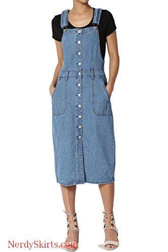 2b17ad0f6 TheMogan Vintage Casual Wash Blue Jean Pencil Knee Length Midi Soft Denim  Skirt