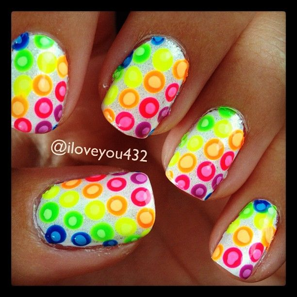 .such bright happy colors <3<3<3FAB VIBRANT COLOURS - PLAYFUL & FUN NAIL-ART(DECALS?)<3<3<3