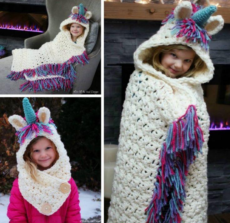 Crochet Hooded Blanket Pattern Pinterest Top Pins ...