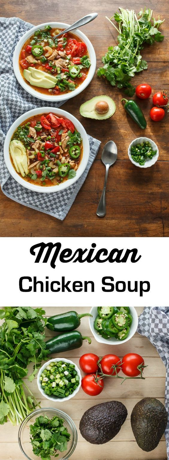 Mexican Chicken Soup is a great way to use up leftover roasted chicken and to add more vegetables to your diet. This recipe for a all-in-one pot soup cooks in no time and is perfect for a weeknight dinner.