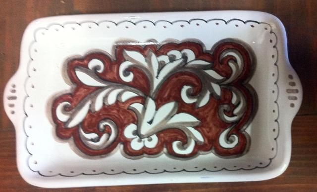 Vassoio rosso-seppia | Ceramiche Rinascita