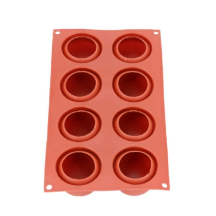 8 Holes High Ball Shaped Silicone Chocolate Cake Mold Baking Mousse Decoration Cheap - NewChic