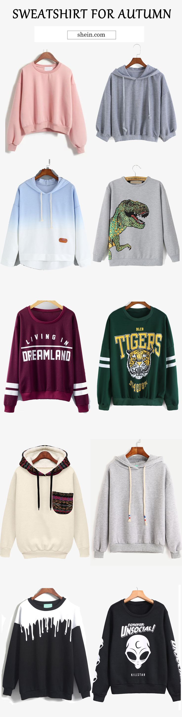 My lovely sporty style! Hot sweatshirt for autumn! Love crew neck sweatshirt with leggings and love loose sweatshirt with skirt!