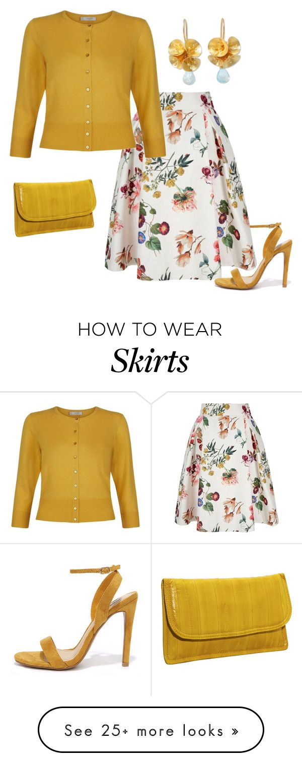 """""""Cardigan and skirt set #3"""" by easy-dressing on Polyvore featuring Latico, Yumi, Hobbs, NOVICA and Cape Robbin"""