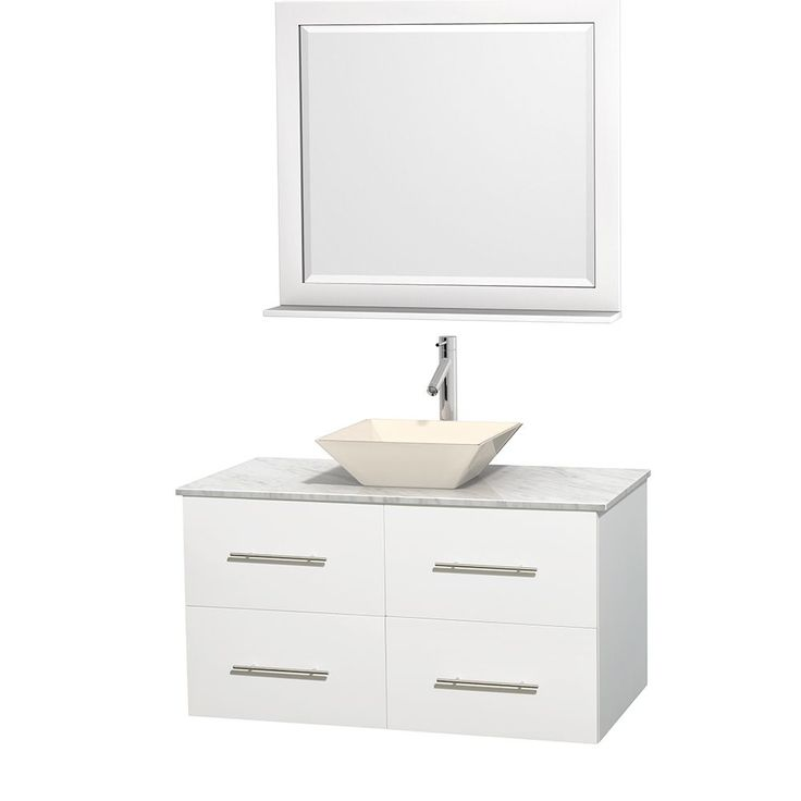 Make Photo Gallery Wyndham Collection Abba inch Single Bathroom Vanity in Espresso with Smoke Glass Top with Black Granite Sink