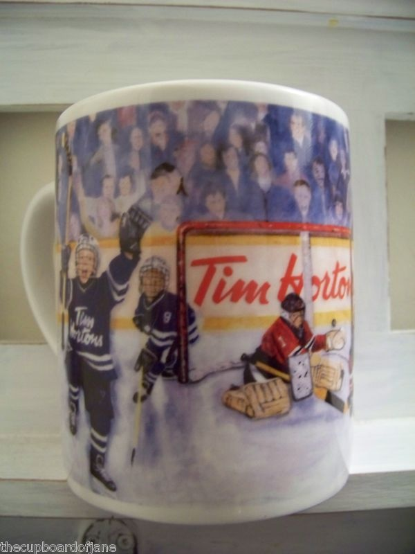 "Tim Horton's Hortons Coffee Mug ""WINNING GOAL"" 2002....I have this mug. It's my favourite"