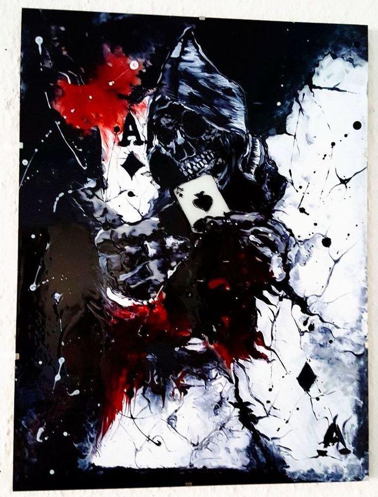 Totenkopf mit Karte