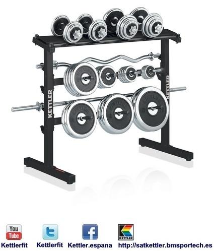 SOPORTE BARRAS-DISCOS-MANCUERNAS 7499-300 - Kettler es una empresa alemana dedicada a la fabricación de máquinas de fitness.  http://satkettler.bmsportech.es