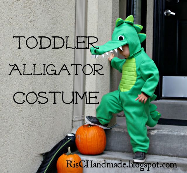 Toddler Alligator Costume So when making it add cardboard on the hat to make the mouth.