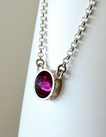 Serenity necklace in Dark Amethyst