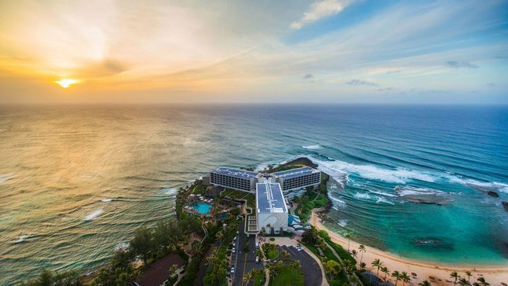 """Turtle Bay Resort  All of Waikiki could fit inside the 850-acreTurtle Bay Resorton Oahu's North Shore, but thankfully, it doesn't. Instead, guests staying in the hotel, condos, or cottages can unwind at a tranquil cove,explore woods and shoreline on horseback,take an aerial view from the renovated """"Magnum, P.I."""" helicopter,play golf at two championship courses, and pamper themselves in the spa--which, like the seven dining outlets, features an ocean theme and island products."""
