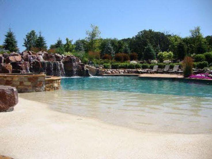 Cool 48 Stunning Backyard Beach Pool Design Ideas http://homearchite.com/2017/06/20/48-stunning-backyard-beach-pool-design-ideas/