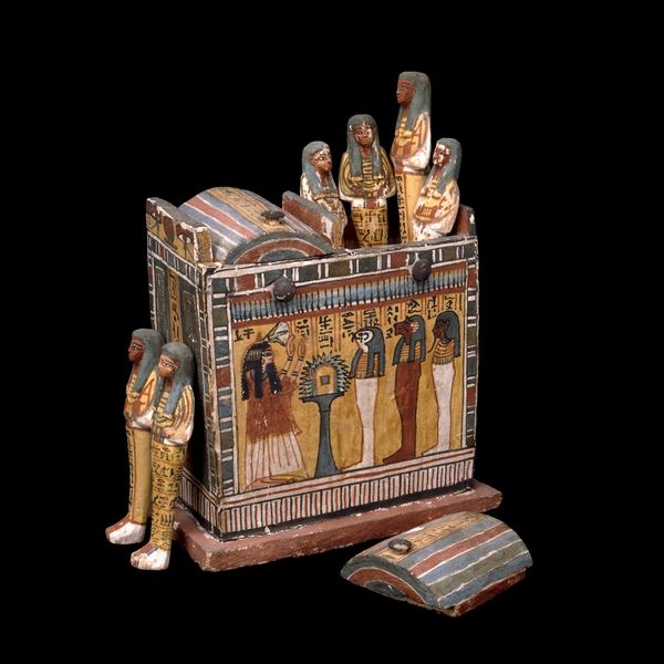 *SHABTI BOX ~ and figures of Henutmehyt From the tomb of Henutmehyt at Thebes, Egypt 19th Dynasty, around 1250 BC