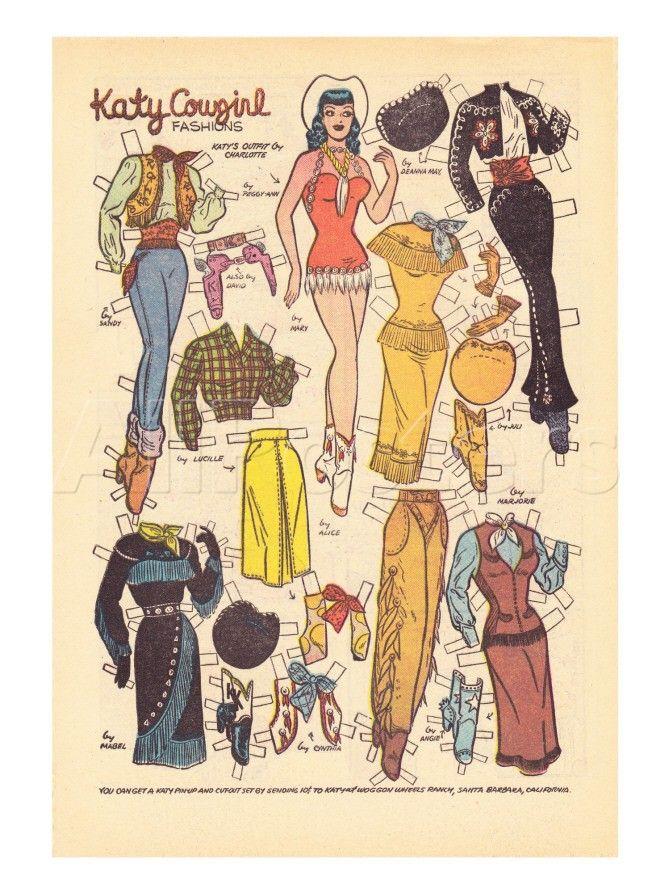 Archie Comics Retro: Katy Keene Cowgirl Fashions (Aged) Láminas por Bill Woggon