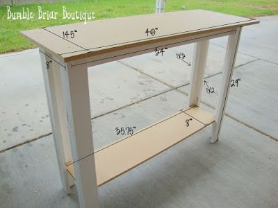 Bumble Briar Boutique: Measurements for Sofa Table