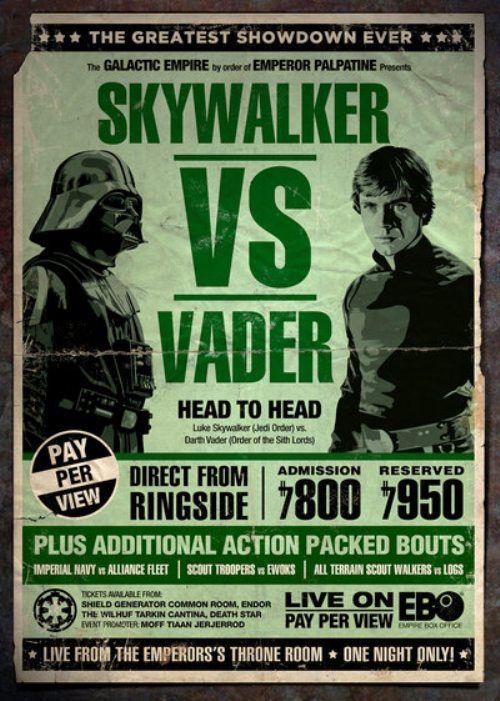 Skywalker Vs. Vader Boxing Poster