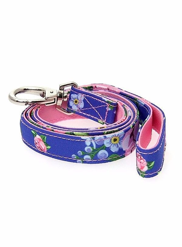 Urban Pup Pink / Blue Floral Burst Fabric Lead #urbanpup