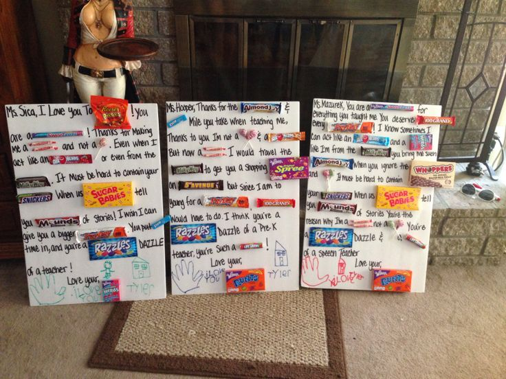 Candy bar poems for teachers!