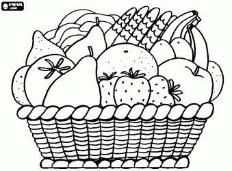frutas variadas para colorir
