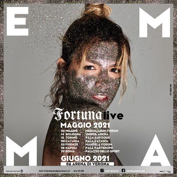 EMMA   Il tour nei palasport viene posticipato a maggio 2021
