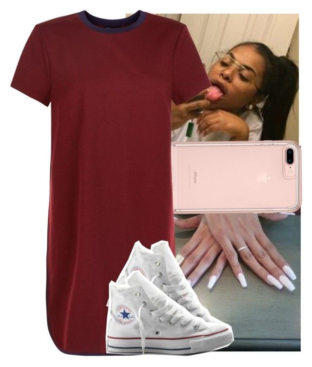 """There go my baby.."" by theyknowtyy ❤ liked on Polyvore featuring New Look and Converse"