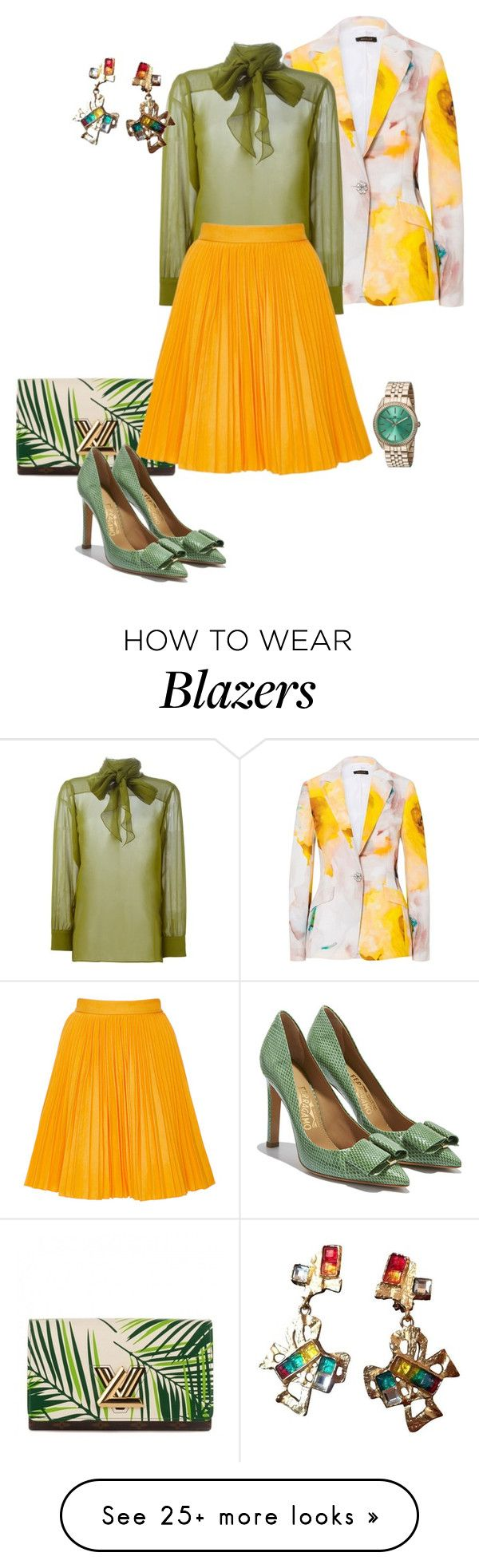 """Bold Colors For Spring!"" by eva-kouliaridou on Polyvore featuring moda, Gucci, Louis Vuitton, MSGM, Salvatore Ferragamo, Christian Lacroix y Oceanaut"