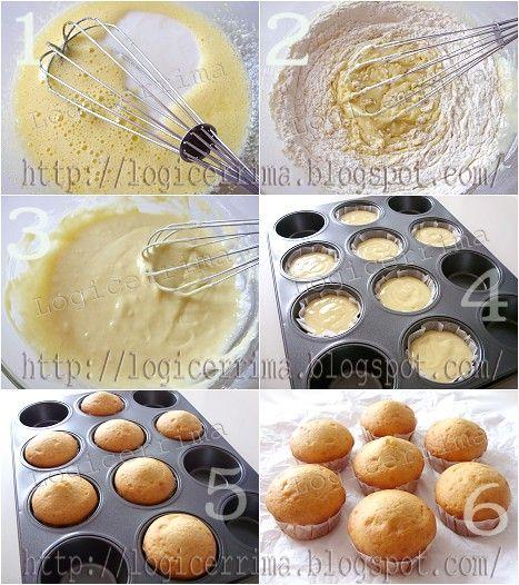 Muffins allo Yogurt    INGREDIENTI(per sette Muffins): - Yogurt Magro (bianco dolcificato). 100g. - Uova. Uno. - Zucchero Vanigliato (homemade). 75g. - Farina Bianca 00 (doppio zero). 125g. - Fecola di Patate. 25g. - Sale. Un pizzico. - Succo di Limone. Qualche goccia. - Lievito per dolci. Due cucchiaini rasi (5g). - Zucchero a Velo Vanigliato. Opzionale q.b..