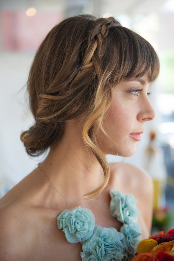 Wedding Hairstyles With Braids And Bangs : 172 best bridal hair braids images on pinterest