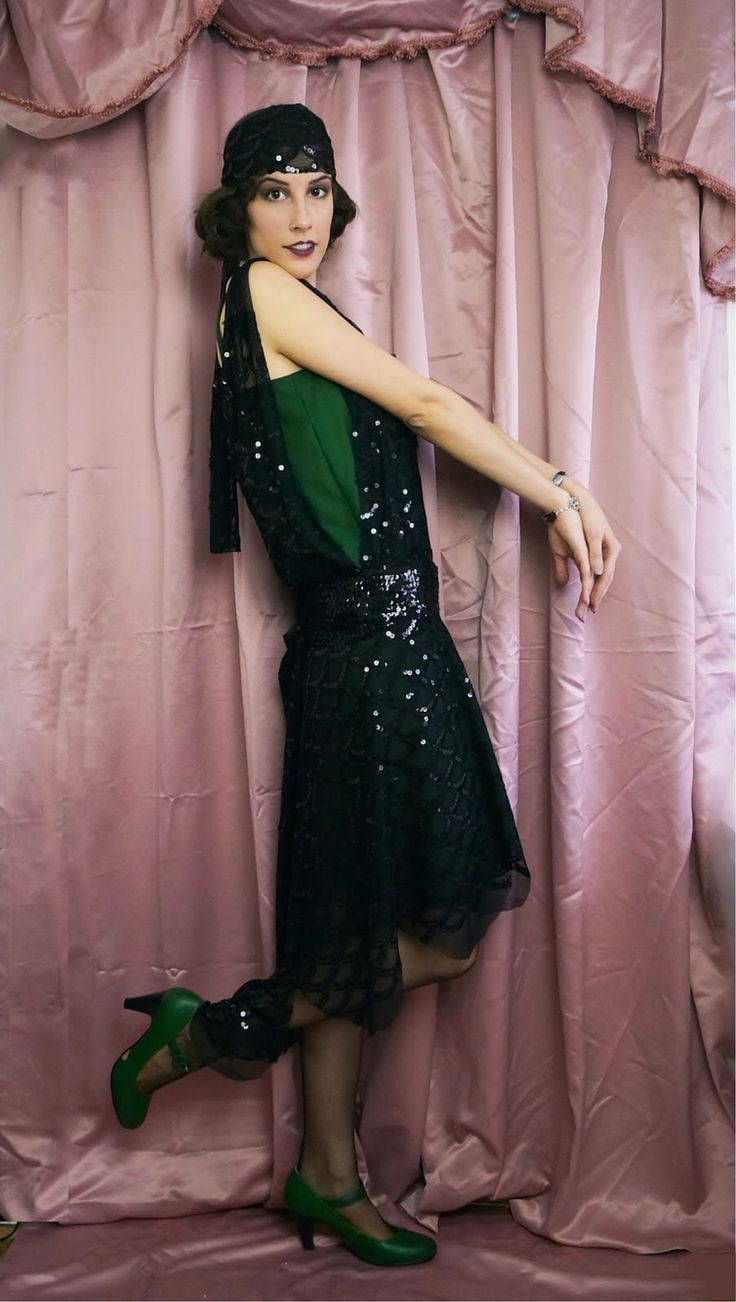 1920s Slytherin party dress. www.domowakostiumologia.blogspot.com