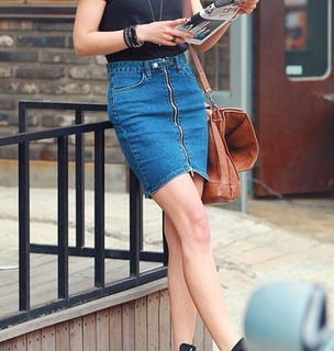 90 best images about The return of the denim skirt on Pinterest ...