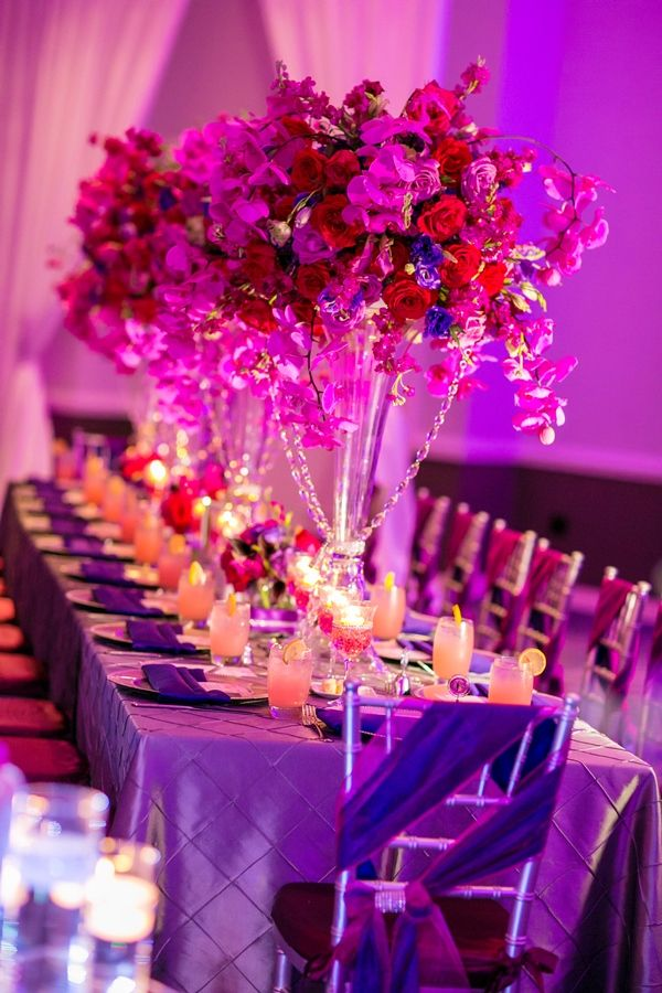 Radiant Orchid Wedding in Orlando Florida Photographer:http://www.castaldostudio.com/ #reception #colorful #wedding