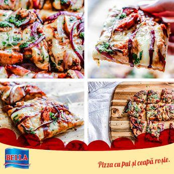 Iata cum puteti face acasa o pizza delicioasa cu aluatul pentru pizza de la Bella:  http://lumeaplacintelor.bellafood.ro/2015/04/pizza-cu-pui-si-ceapa/