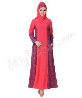 Atia Crepe Sweet Pink Abaya