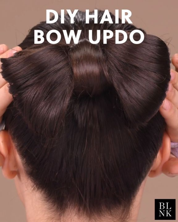 How To Do A Hair Bow Updo Hairbow Hairtutorial Updos