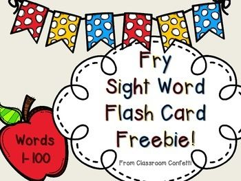 These freebie flashcards include Fry's first 100 instant words. These easy to make flashcards are great for centers, independent practice, or homework. These are great for differentiation in your classroom. Sight word practice builds fluency in young readers.You may also be interested in:Initial Sounds PuzzleShort Vowels Word WorkLong Vowel Teams Word Work BundleLong Vowel Anchor Charts