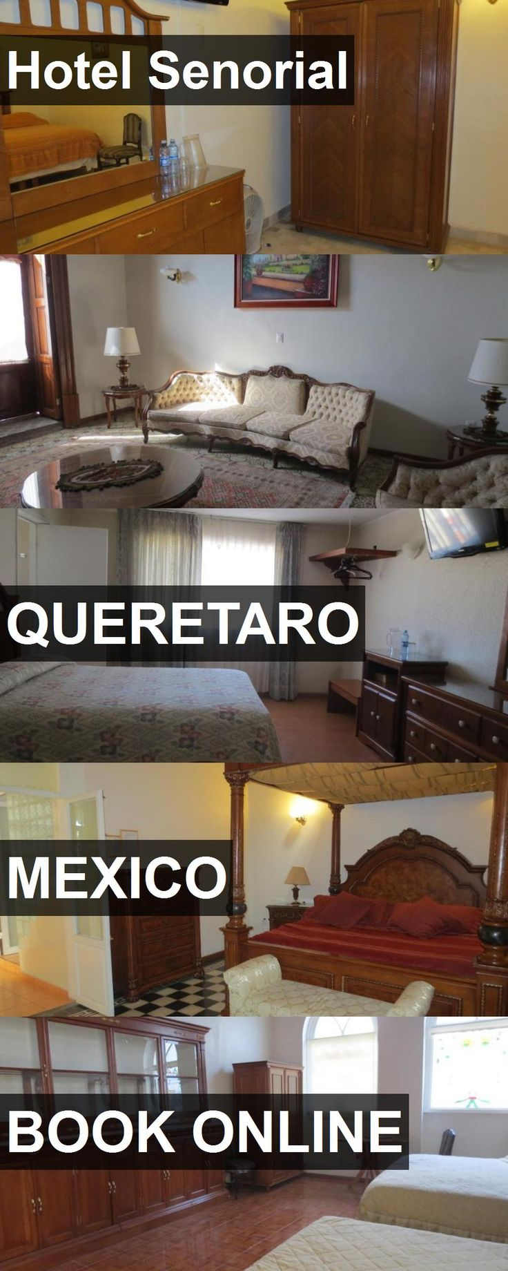 Hotel Senorial in Queretaro, Mexico. For more information, photos, reviews and best prices please follow the link. #Mexico #Queretaro #travel #vacation #hotel