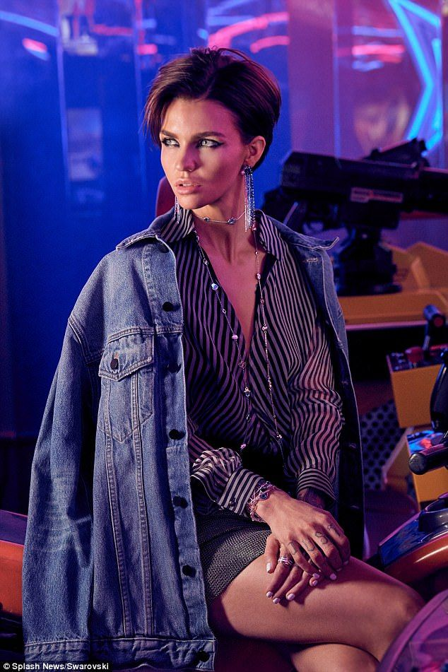 Shine bright like a diamond! Ruby Rose sparkles in stunning photographs from Swarovski's new advertising campaign