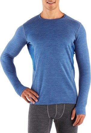 KUHL Men's Defiant Krew Long Underwear Top Lake Blue XL