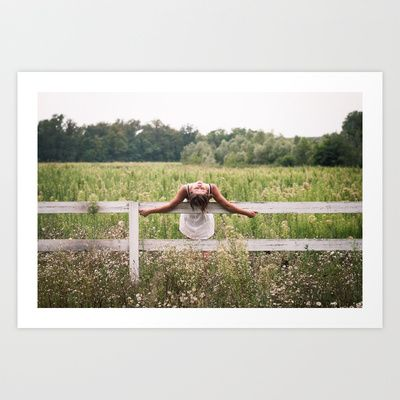 free falling Art Print by RDPhotography - $16.00