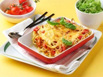 Zapečené těstoviny a là carbonara / Baked pasta a la carbonara