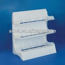 OEM floor standing printing acrylic cosmetic display stand,acrylic display shelf