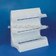OEM floor standing printing acrylic cosmetic display stand,acrylic display shelf